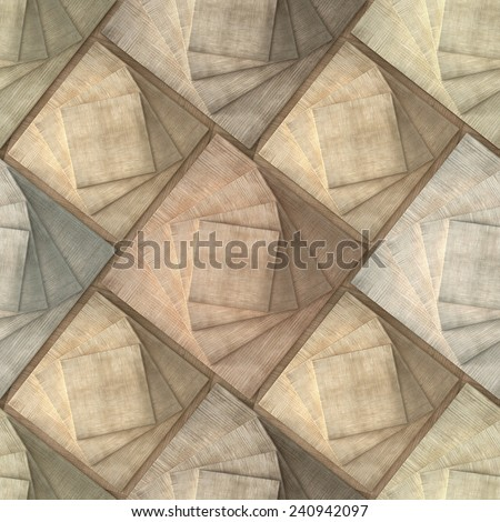 3d, pattern of wooden squares, seamless - stock photo