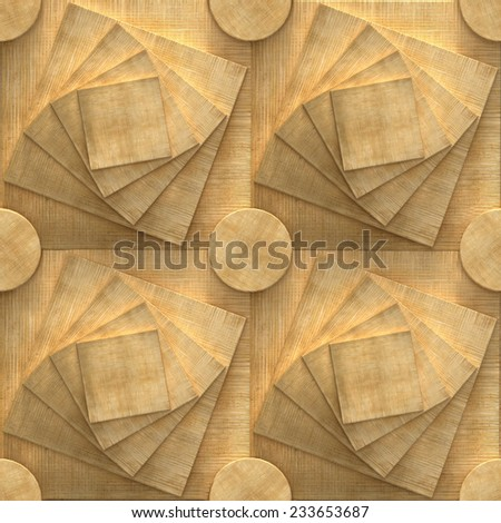 3d pattern, seamless puzzle, wood - stock photo