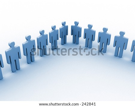 3d people. - stock photo