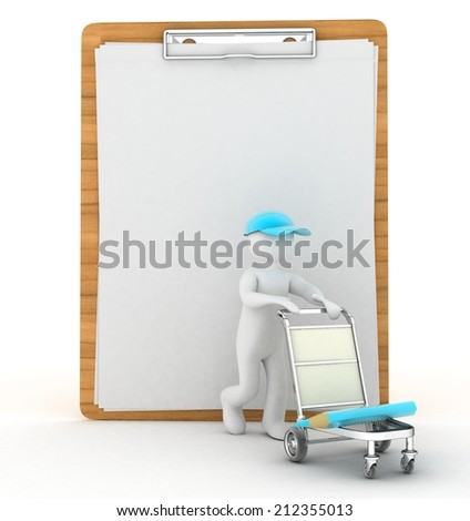 3d people delivery - stock photo