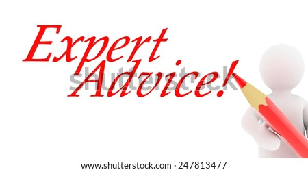 3D people- Expert Advice - stock photo