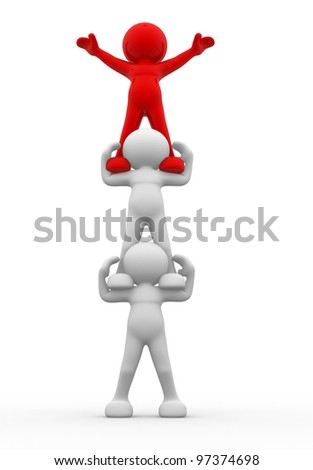 3d people -man, person. Aspirations. - stock photo