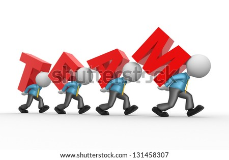 "3d people - men, person with word "" teamwork "". Businessman - stock photo"