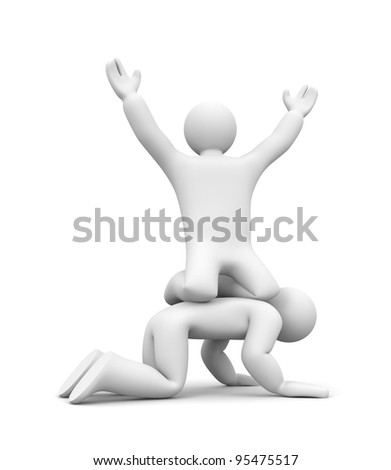 3d people success metaphor - stock photo