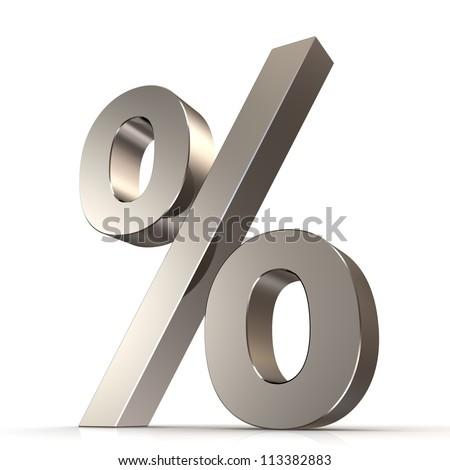 3d percent sign - stock photo