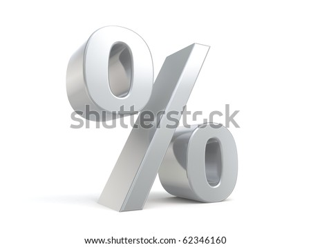 3d percent sign from my collection - stock photo