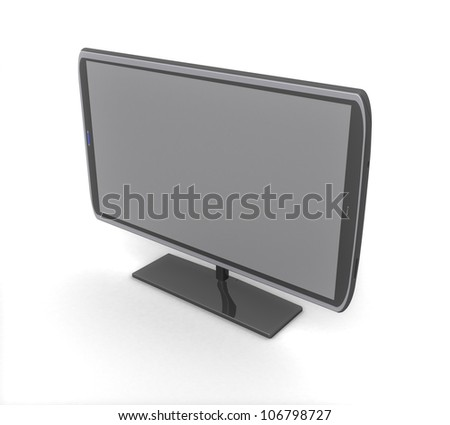 3d Plasma LCD TV - stock photo