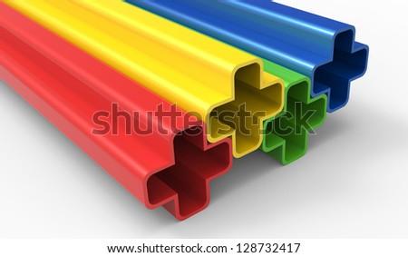 3D Plus design - stock photo