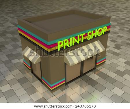 3d print shop - stock photo