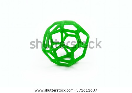 3D Printed Sphere Shaped Object - stock photo