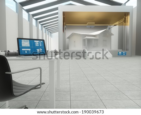 3d printer, printing house - stock photo