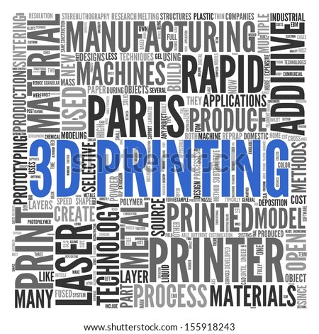 3D PRINTING | Concept Wallpaper - stock photo