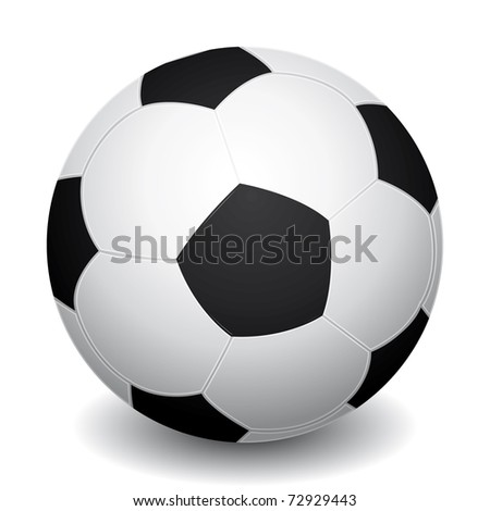 3d realistic soccer ball icon with shadow. - stock photo