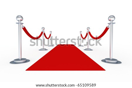 3d red carpet - stock photo