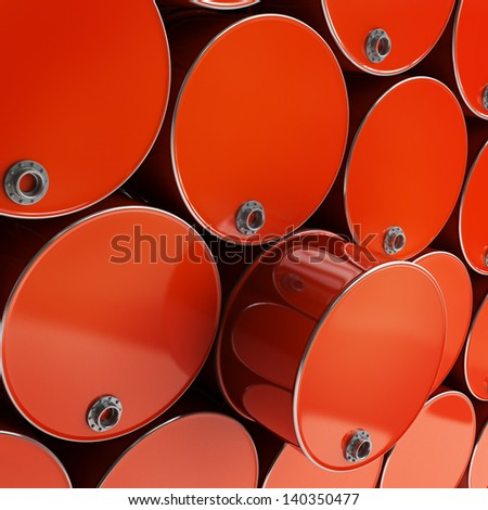 3D red FUEL barrel background High resolution - stock photo