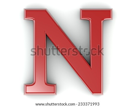 Letter n Images Red 3d Red Letter n Isolated White