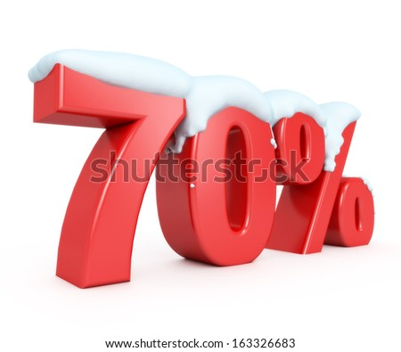 3d red snowy discount collection - 70% - stock photo