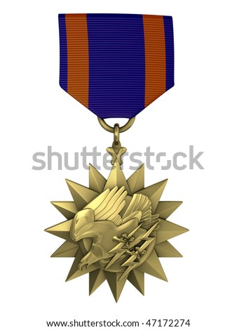 3d render Air medal - stock photo
