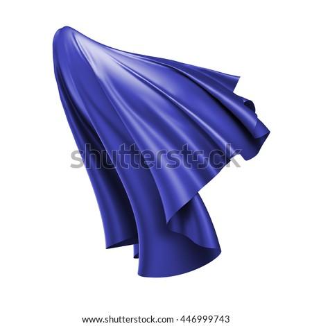 3d render, digital illustration, abstract folded cloth, flying ...