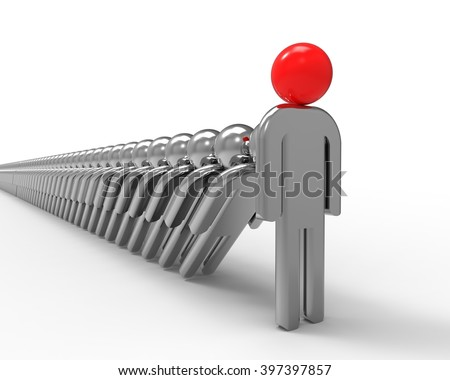 3D render image representing a strong Leadership / Strong Leader - stock photo