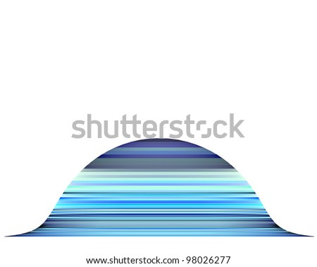 3d render mountain abstract blue purple backdrop - stock photo