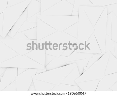 3d Render of a Background of Envelopes - stock photo