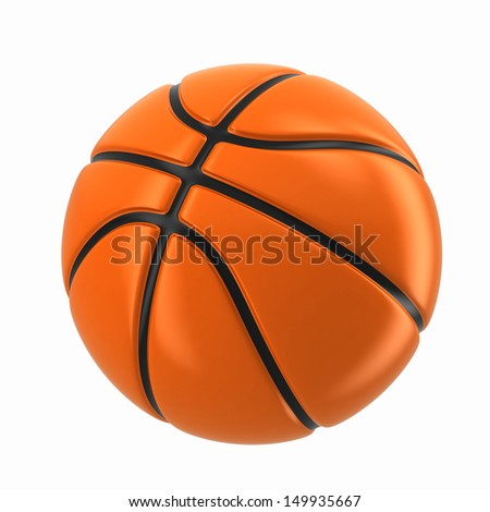 3d render of a basketball ball - stock photo