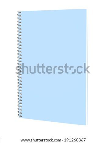 3d Render of a Blue Spiral Notebook - stock photo