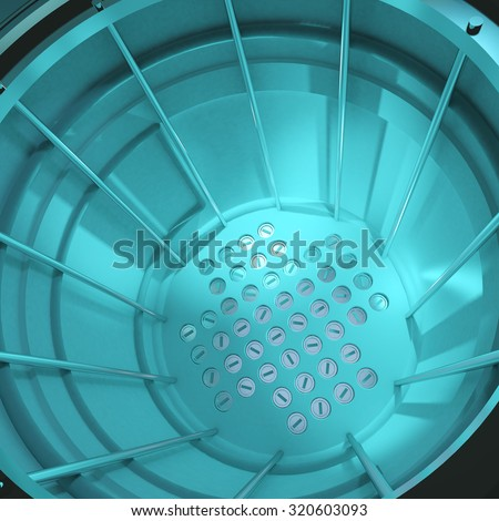 3d render of a close up of a nuclear reactor core. - stock photo