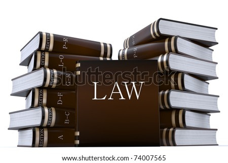 3d render of a collection of low books - stock photo