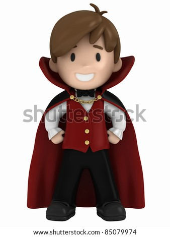 3D render of a dracula kid - stock photo