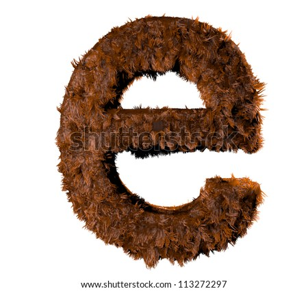 3d render of a hairy e - stock photo