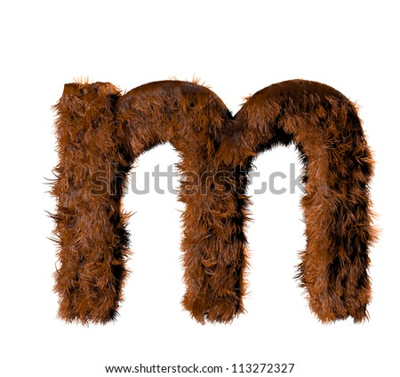 3d render of a hairy m - stock photo