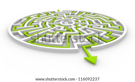 3d render of a labyrinth - stock photo