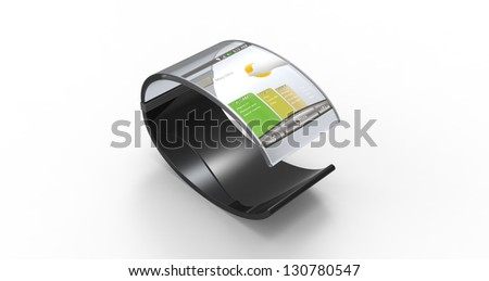 3d render of a mobile bracelet on a white background - stock photo
