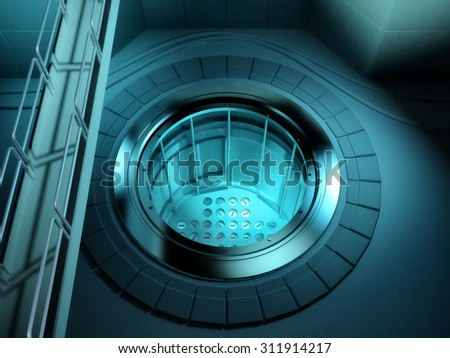 3d render of a nuclear reactor in a power station. - stock photo