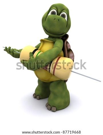 3d render of a Tortoise with resistor - stock photo