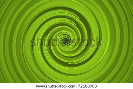 3d render of abstract green whirl - stock photo