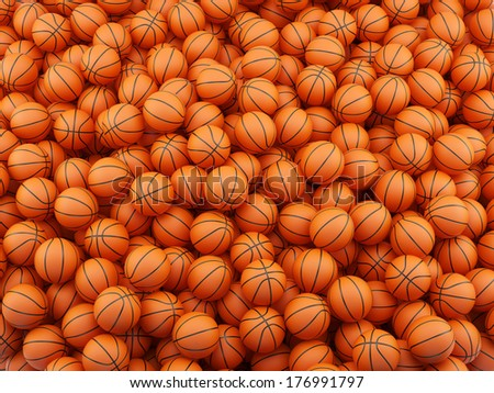 3d render of basketball background. Sport concept - stock photo