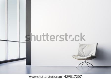 3d render of beautiful modern interior room - stock photo