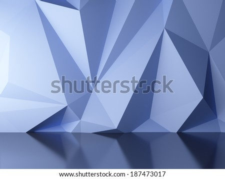 3d render of blue abstract background - stock photo
