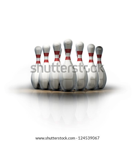 3d render of bowling isolated on white background. High resolution - stock photo