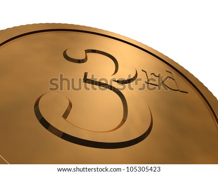 3d render of bronze medal - stock photo