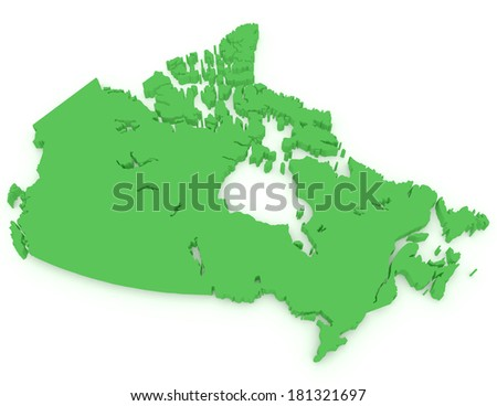 3d Render of Canada - stock photo