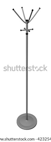 3d render of clothes rack - stock photo