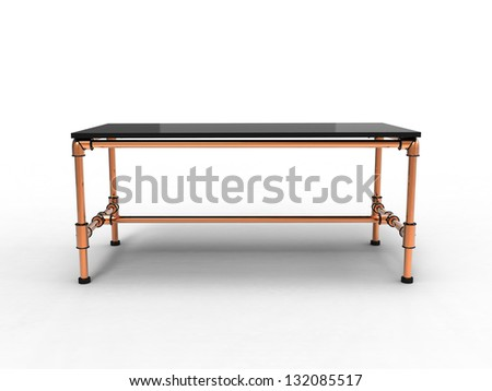 3d render of Cool Office Table - stock photo