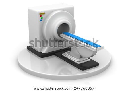 3d render of CT Scanner - stock photo