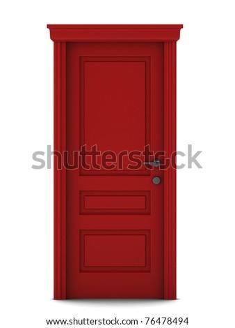 3d render of door - stock photo