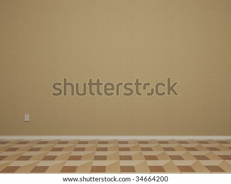3d Render Of Empty Room With Wall - More Variations In My Portfolio - stock photo