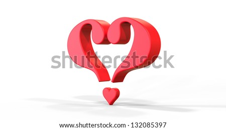 3d render of Finding Love concept - stock photo